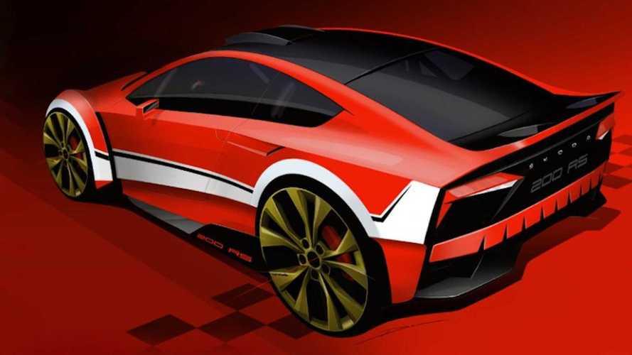Skoda, spor aracı 200 RS'i yeniden hayal ediyor