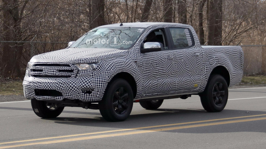 2019 Ford Ranger spied under development on American roads