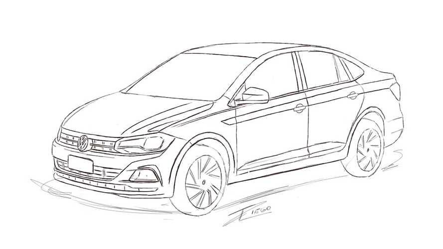 Volkswagen Virtus - Leitor revela os traços do novo Polo Sedan 2018 para o Brasil