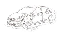 Sketch Volkswagen Virtus / Polo Sedan 2018