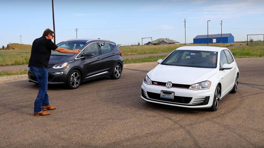 Chevy Bolt Smokes VW Golf GTI In Drag Race