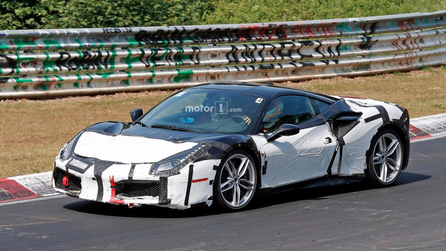 Unknown Ferrari 488 Prototype Spied Up Close