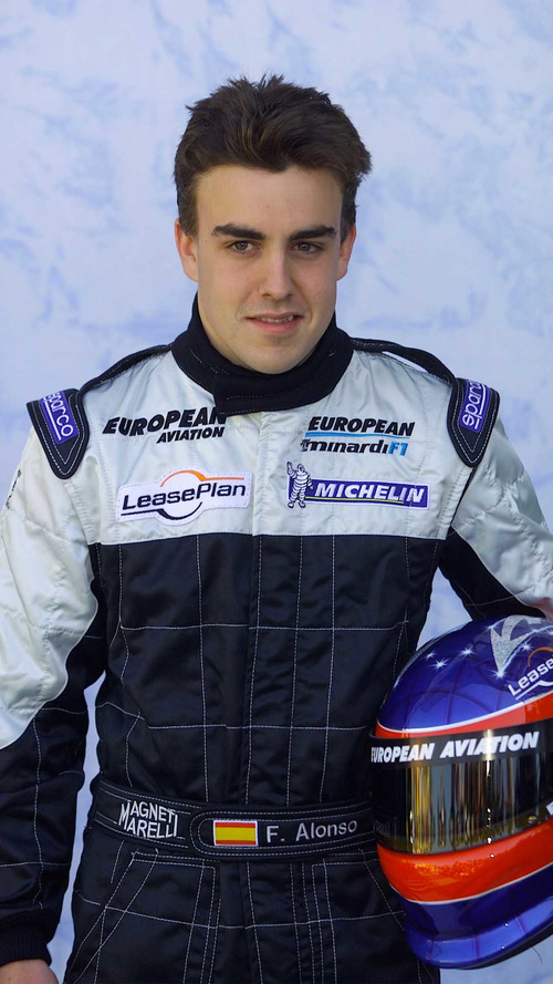 Fernando Alonso at Indy in 2001