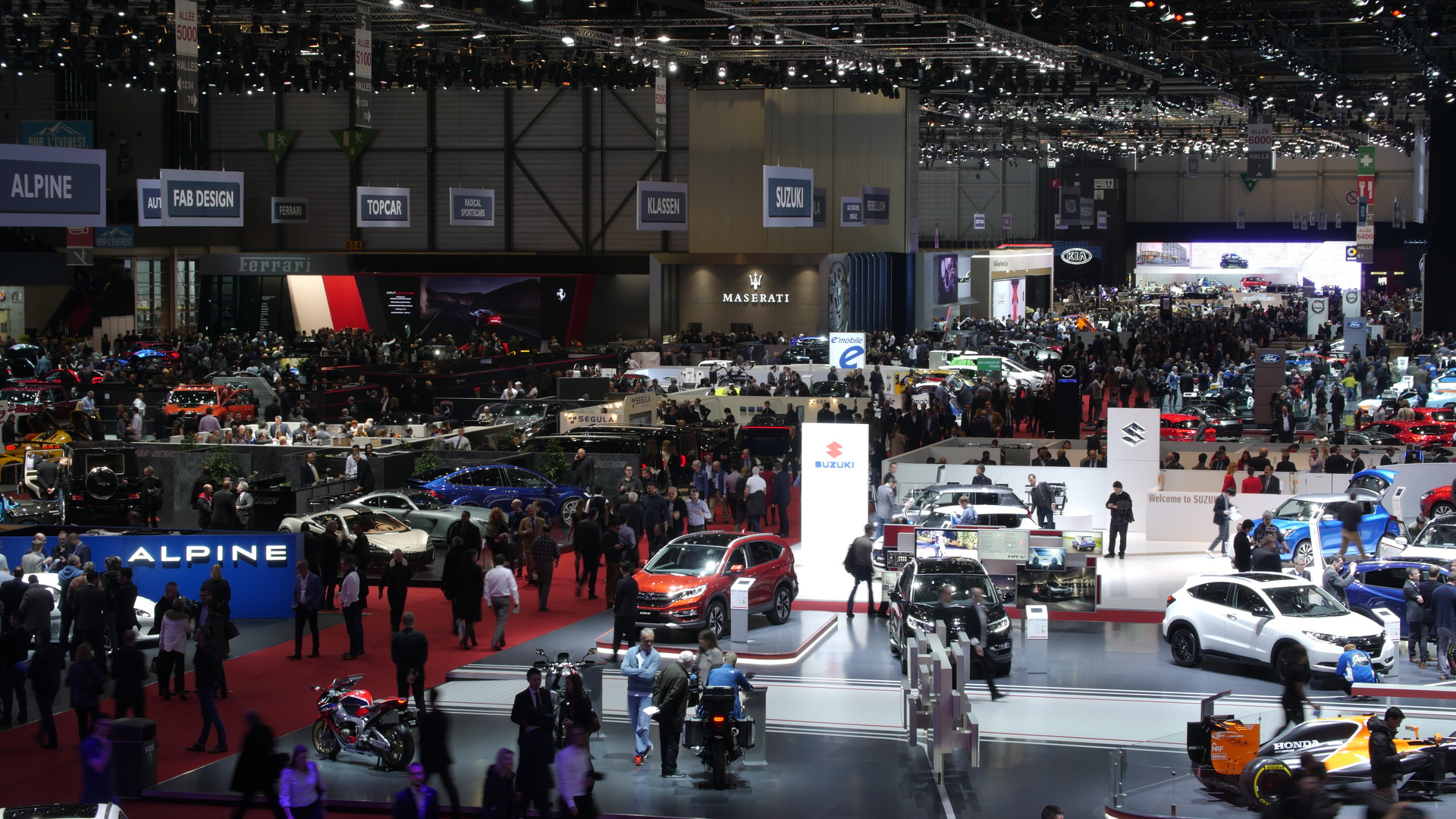 Take A Virtual Tour Of The Geneva Motor Show - Geneva car show