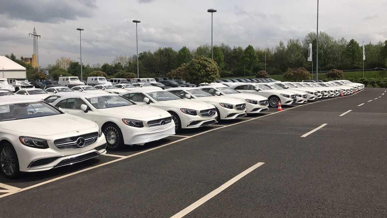 Mercedes-Maybach S650 Cabriolets at Brabus facility