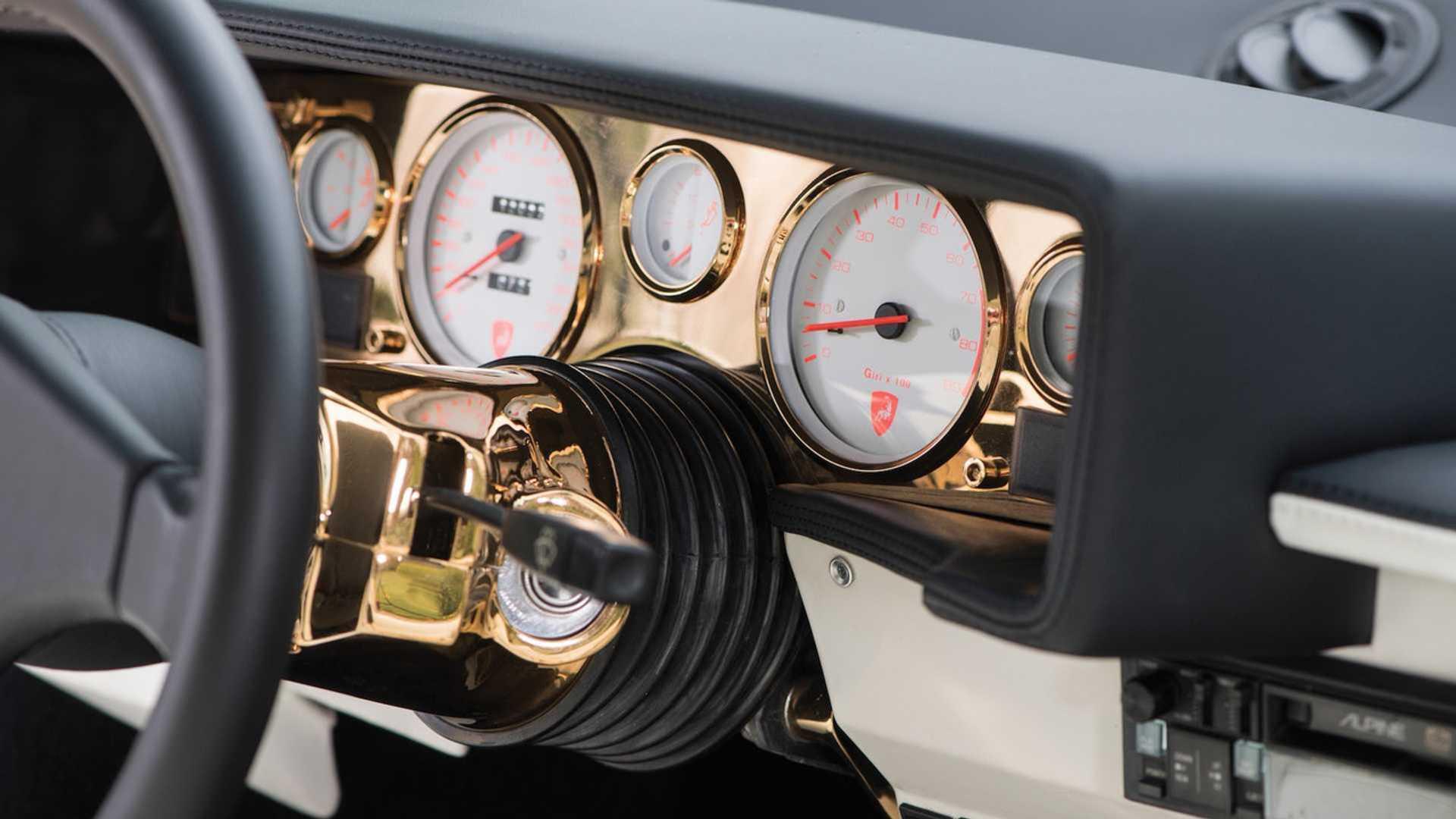 Gold-Plated Lamborghini Countach