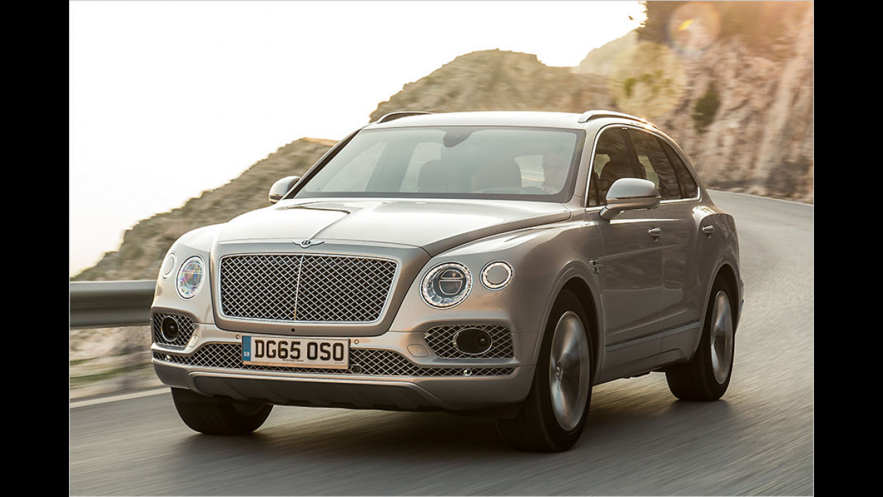 Platz 9: Bentley Bentayga (2.422 Kilo)