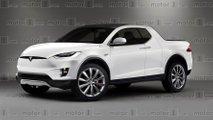 Tesla pickup render
