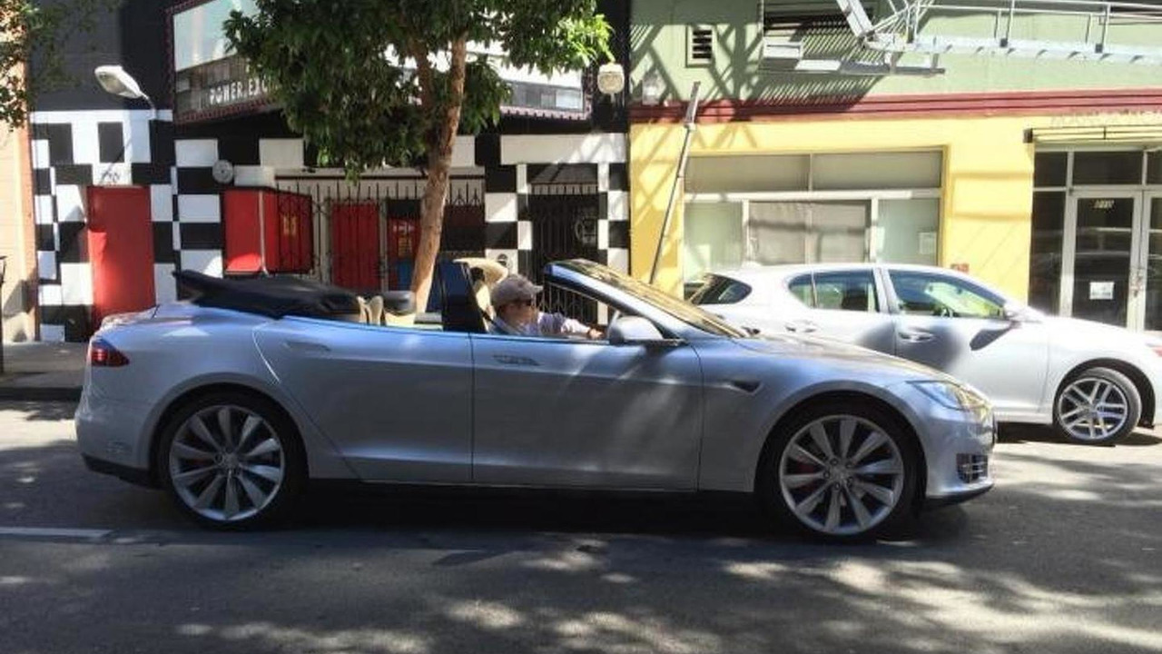 4 Door Convertible >> Tesla Model S Four Door Convertible Motor1 Com Photos