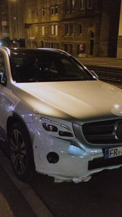 Mercedes GLC spied almost undisguised