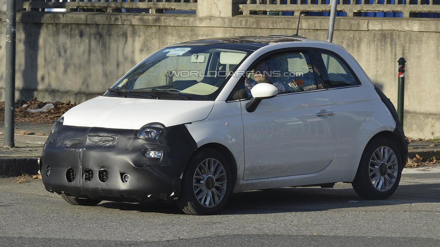 Fiat 500 facelift spied in northern Italy