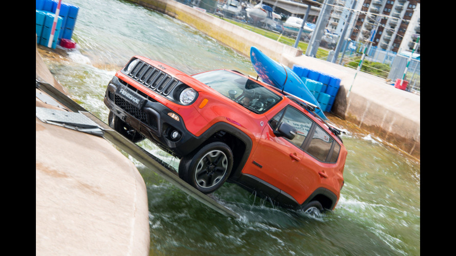 Jeep Renegade come un kayak contro le rapide