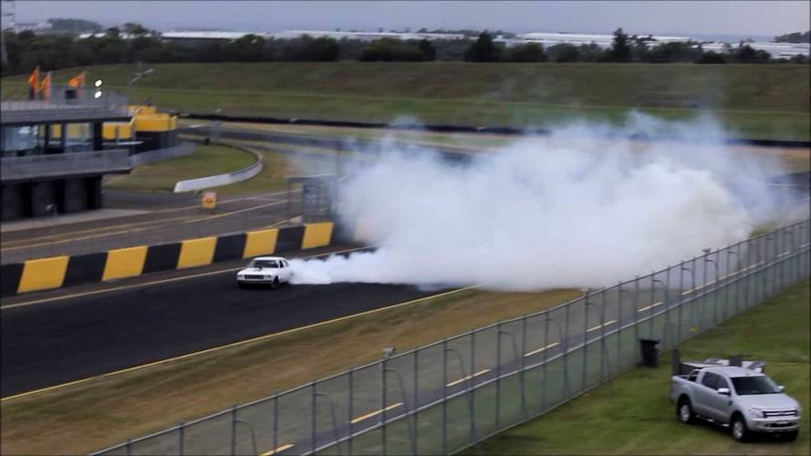 See This 800 HP Holden Shred Tires With Impressively Long Burnout