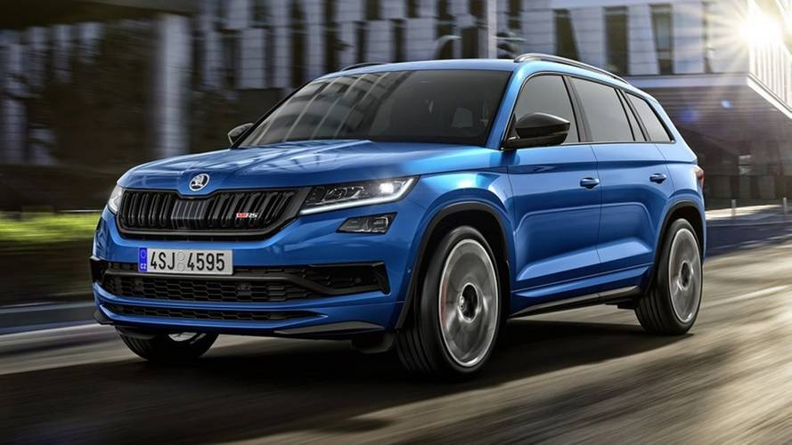 2019 skoda kodiaq rs teasers photos. Black Bedroom Furniture Sets. Home Design Ideas