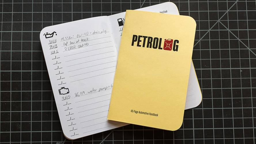 Petrolog Is A Real Paper Maintenance Log For Your Car