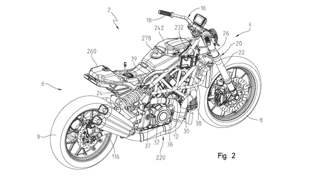Indian FTR 1200 Patent Designs