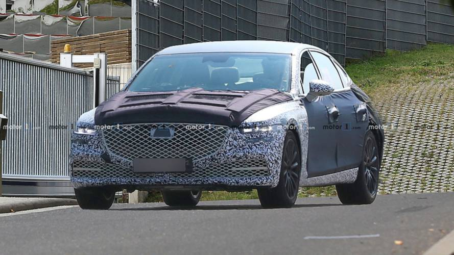 2020 Genesis G80 Drops More Camouflage In New Spy Photos