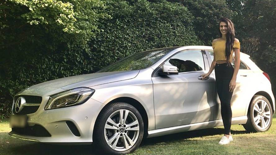 Francesca Brady with new Mercedes A Class