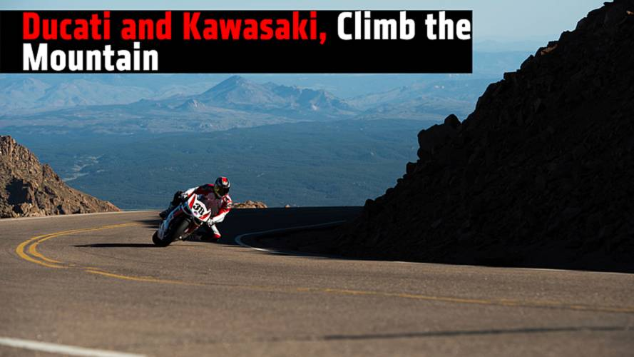 Ducati and Kawasaki, Take Home Wins at Pikes Peak