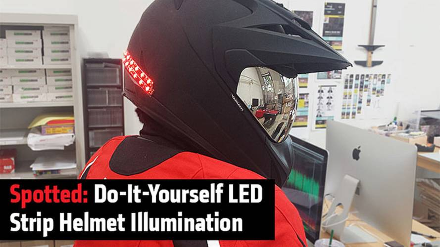 Spotted: Do-It-Yourself LED Strip Helmet Illumination