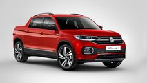 VW T-Cross pickups, cabrio, three-door, GTS renders