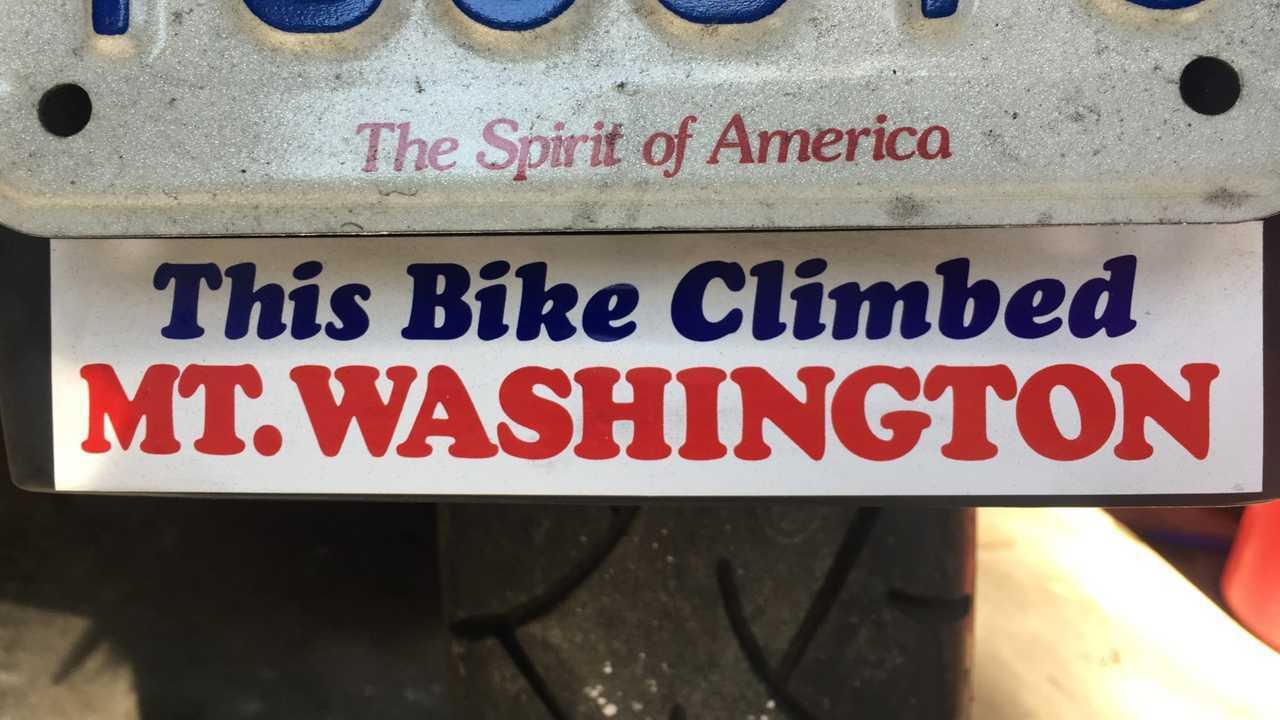 This Bike Climbed Mount Washington Sticker