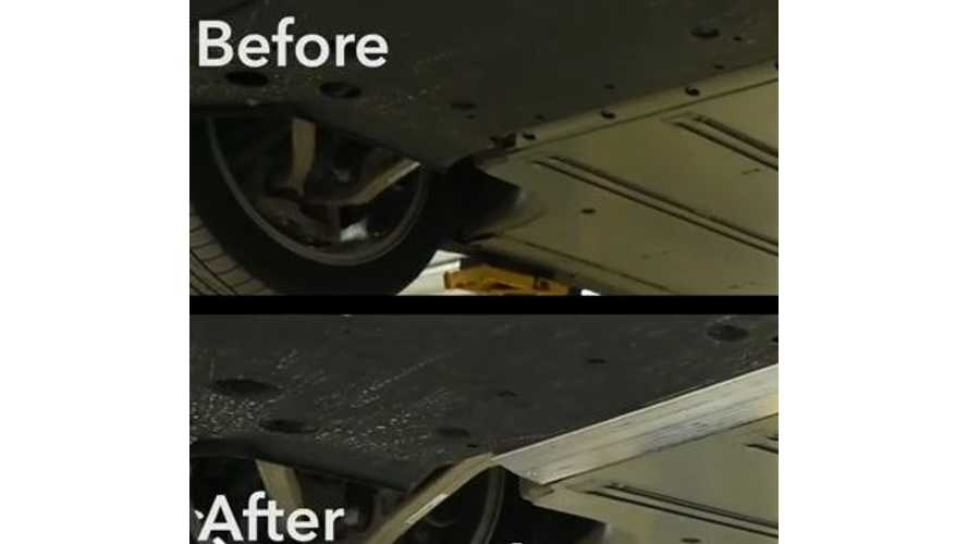 Tesla Model S Underbody Shields Installed - Consumer Reports Video
