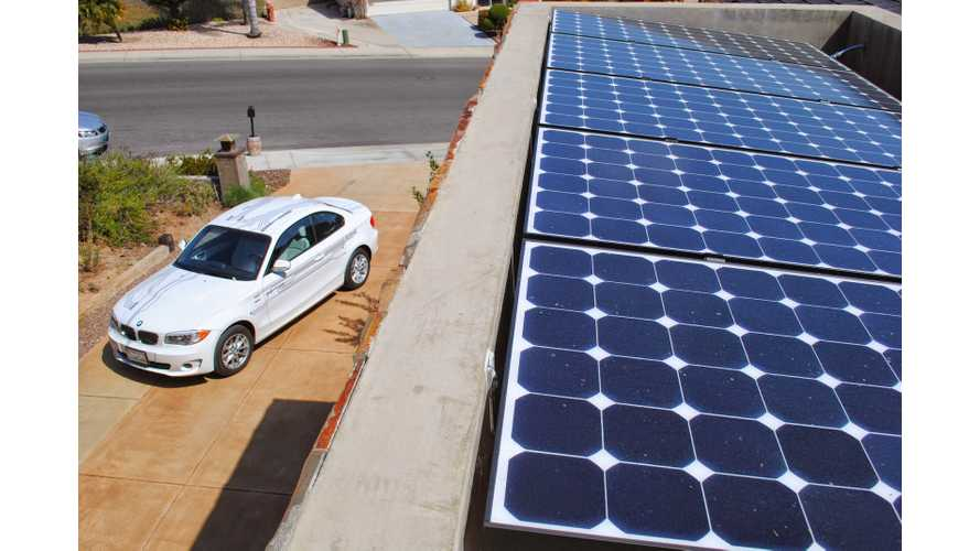 One House - Two BMW i3s - Powered Solely By Sunshine