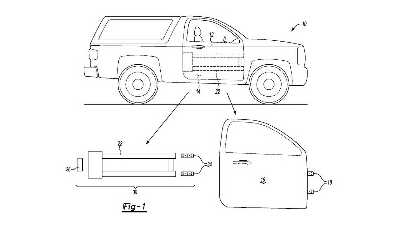 Ford removable doors patent drawing