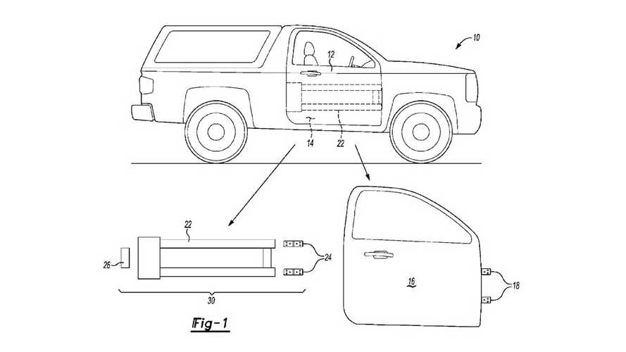 Ford removable doors patent drawings