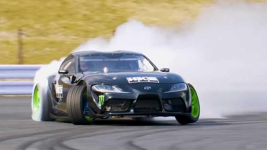 VIDÉO - La Toyota Supra 2JZ-GTE de Daigo Saito prend feu