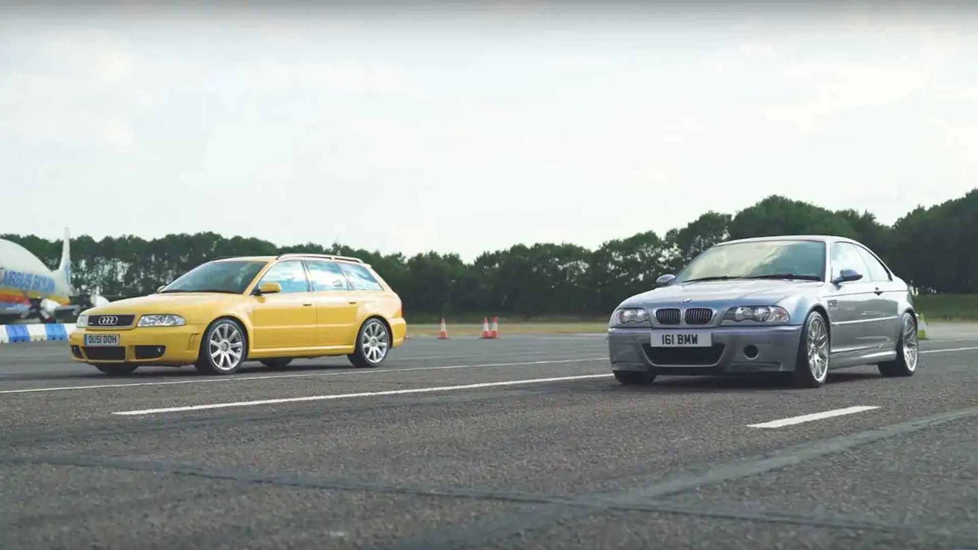 Bmw E46 M3 >> Bmw E46 M3 Csl Meets Audi Rs4 B5 At Drag Strip