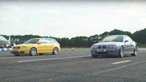 BMW E46 M3 CSL ile Audi RS4 Avant B5'in Drag Yarışı