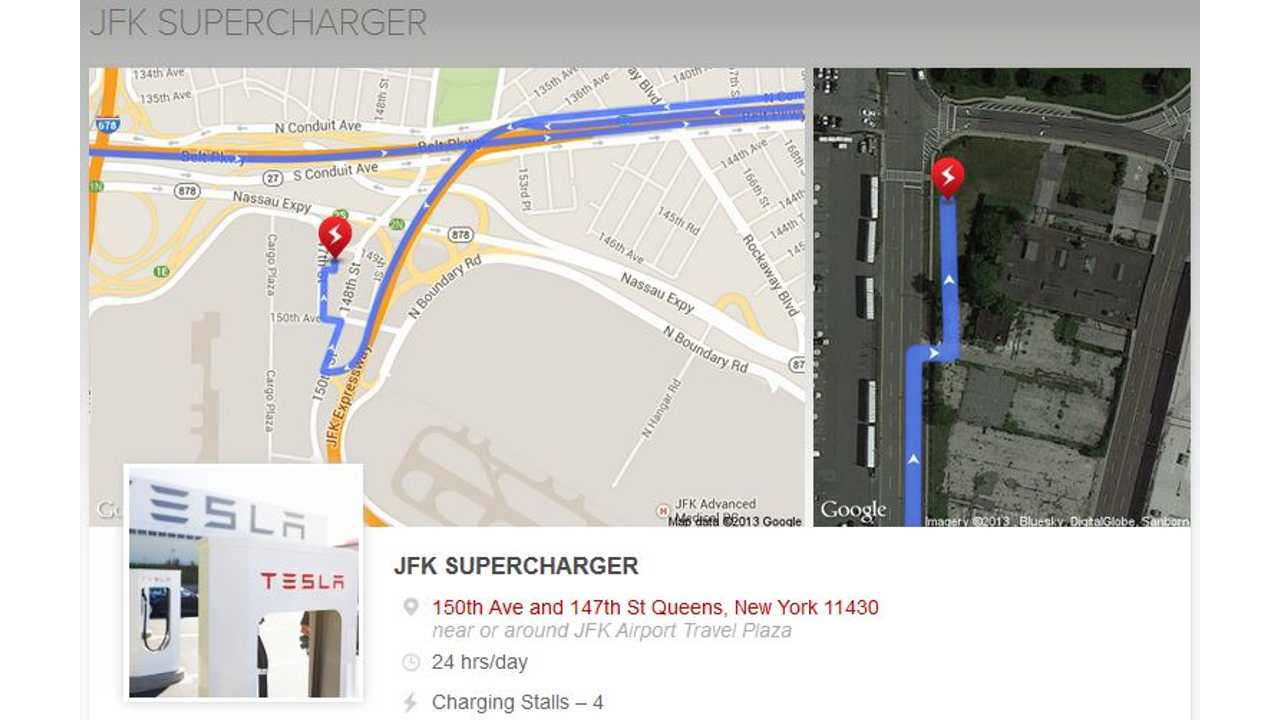 Map Of New York Showing Jfk Airport.New York City Gets Its First Tesla Supercharger As Jfk Airport Gets