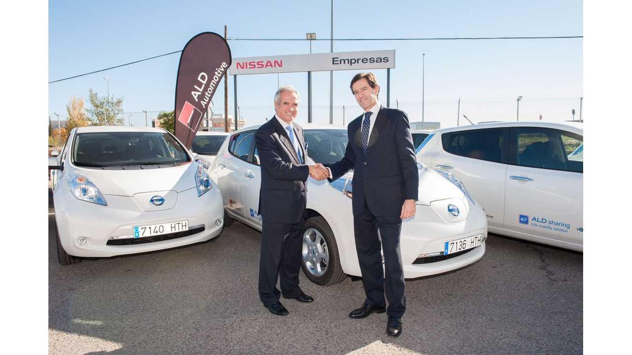 ALD Automotive Launches Nissan LEAF Car Sharing Scheme in Spain