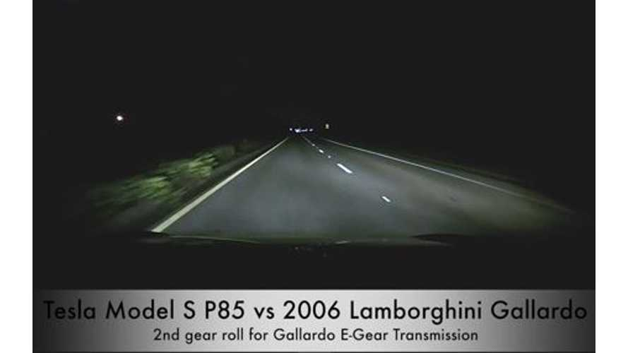 Video: Tesla Model S P85 Versus 2006 Lamborghini Gallardo