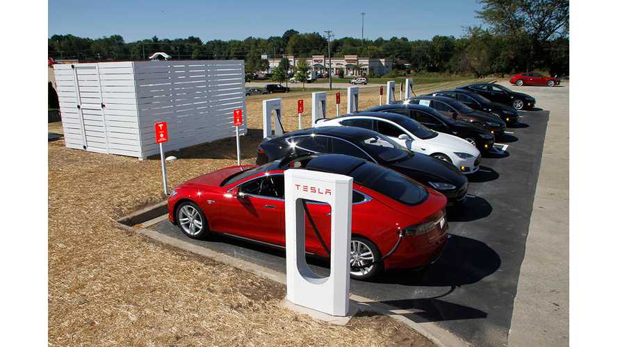 Tesla Motors Supercharger Map With Charging Stall Numbers
