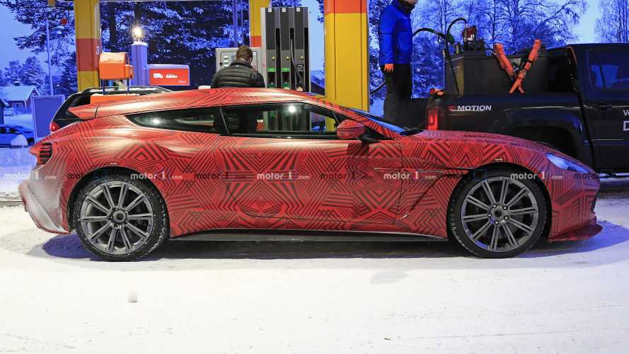 Vanquish Zagato Shooting Brake spy shots are wallpaper worthy