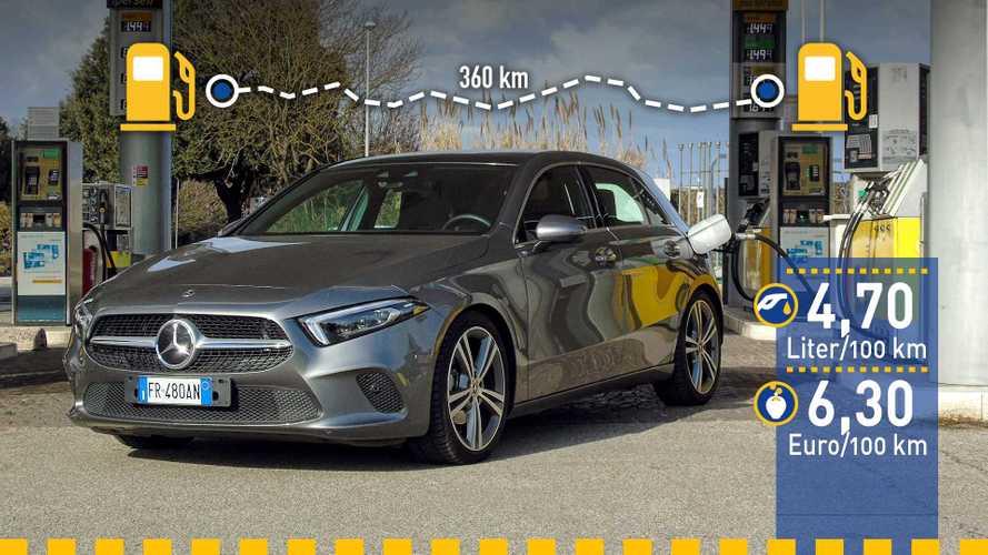 Tatsächlicher Verbrauch: Mercedes A 200 im Test
