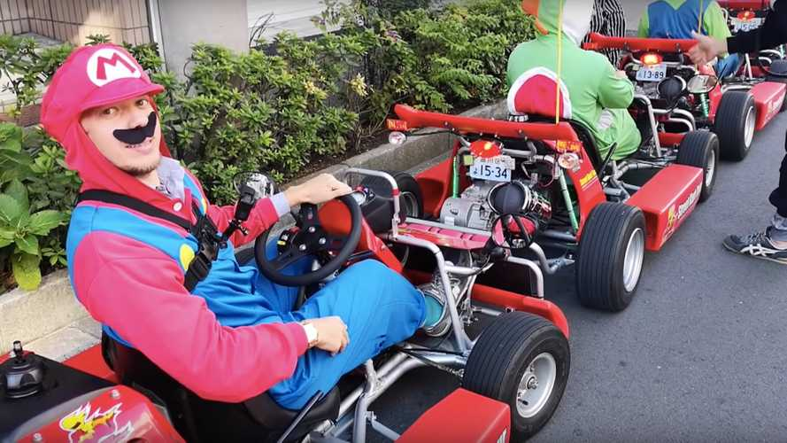 Mario Kart in real life looks even more enjoyable