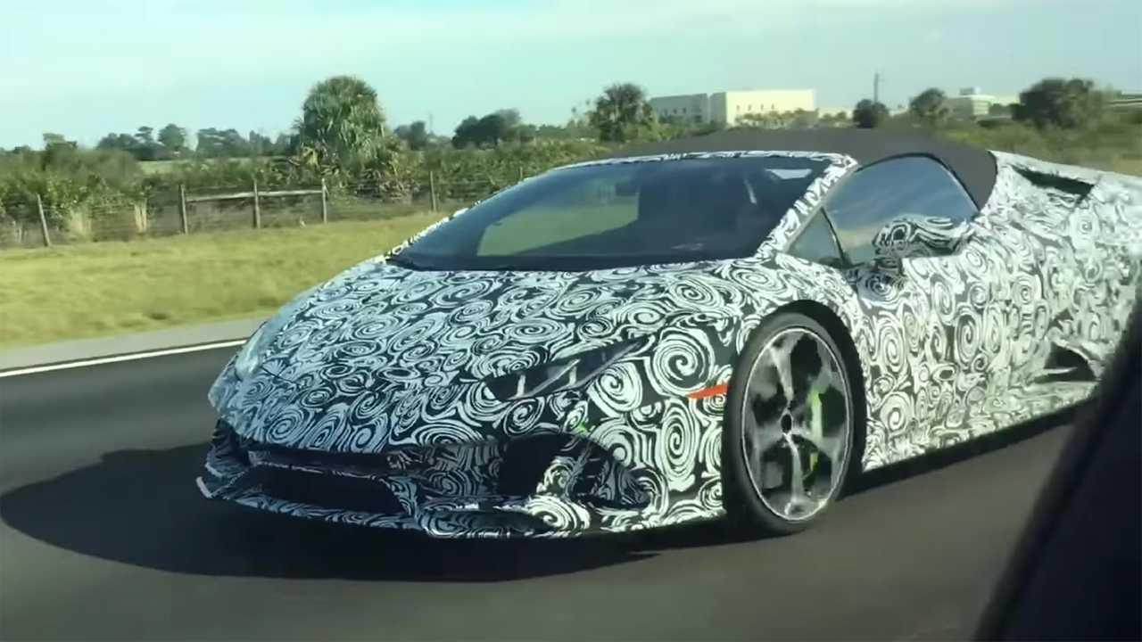 Lamborghini Huracan Evo Spyder Vidéo Espion