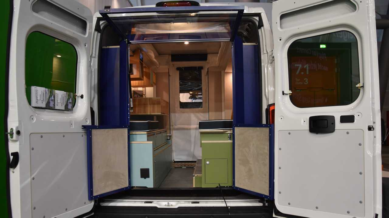 plug and play camping module easily turns cargo vans into rvs. Black Bedroom Furniture Sets. Home Design Ideas