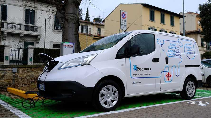 Noleggio furgoni. Nissan E-Van Sharing anche a Firenze