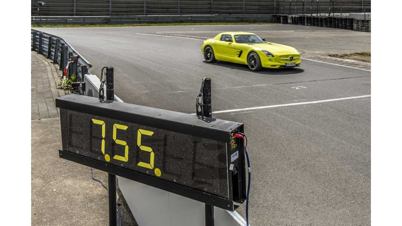 Mercedes SLS AMG Coupé Electric Drive Sets New Lap Record for Production Electric Vehicle at Nürburgring (w/video)