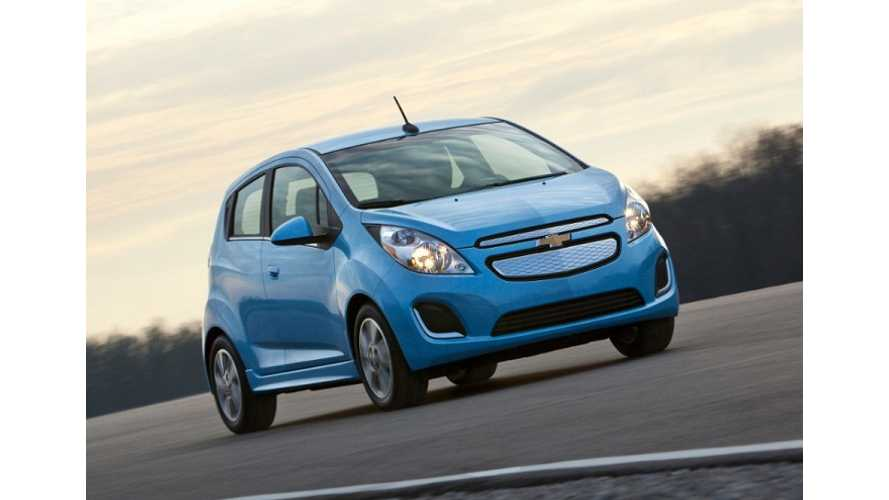 Chevy Spark EV Priced at $19,995 After Federal Incentive; 36-Month Lease is $199 Per Month With $999 Down