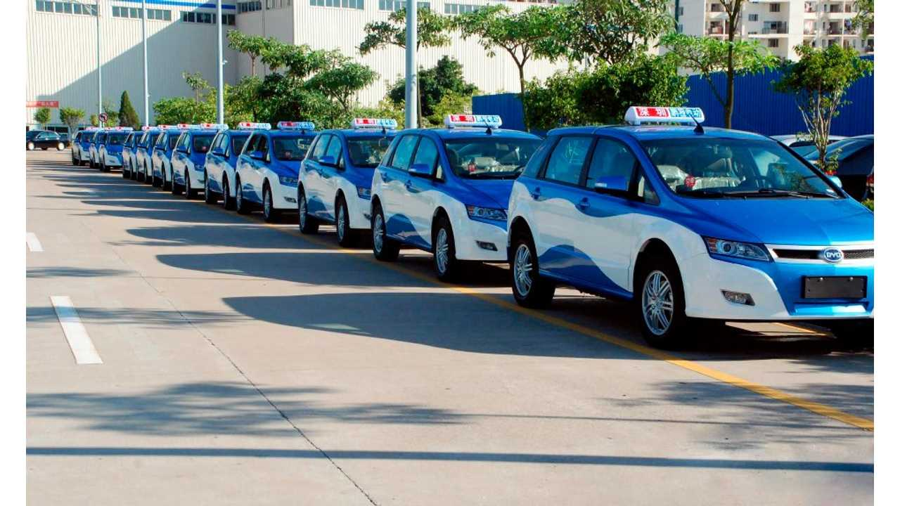 BYD e6 Taxi Fleet in Hong Kong Could Become 833 Times Larger
