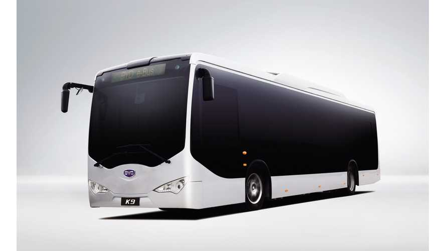 BYD Awarded Largest Order For Electric Buses in Europe (w/video)