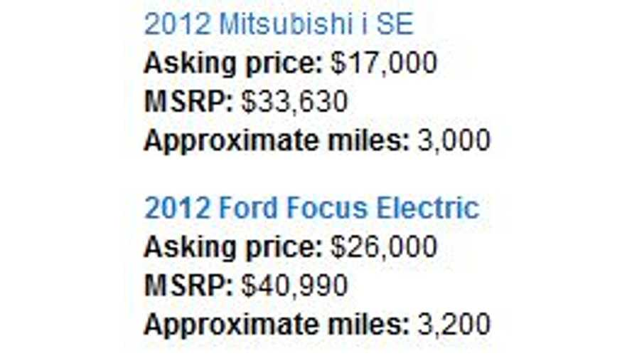 Consumer Reports Puts its Mitsubishi i and Ford Focus Electric Up for Sale to the Public