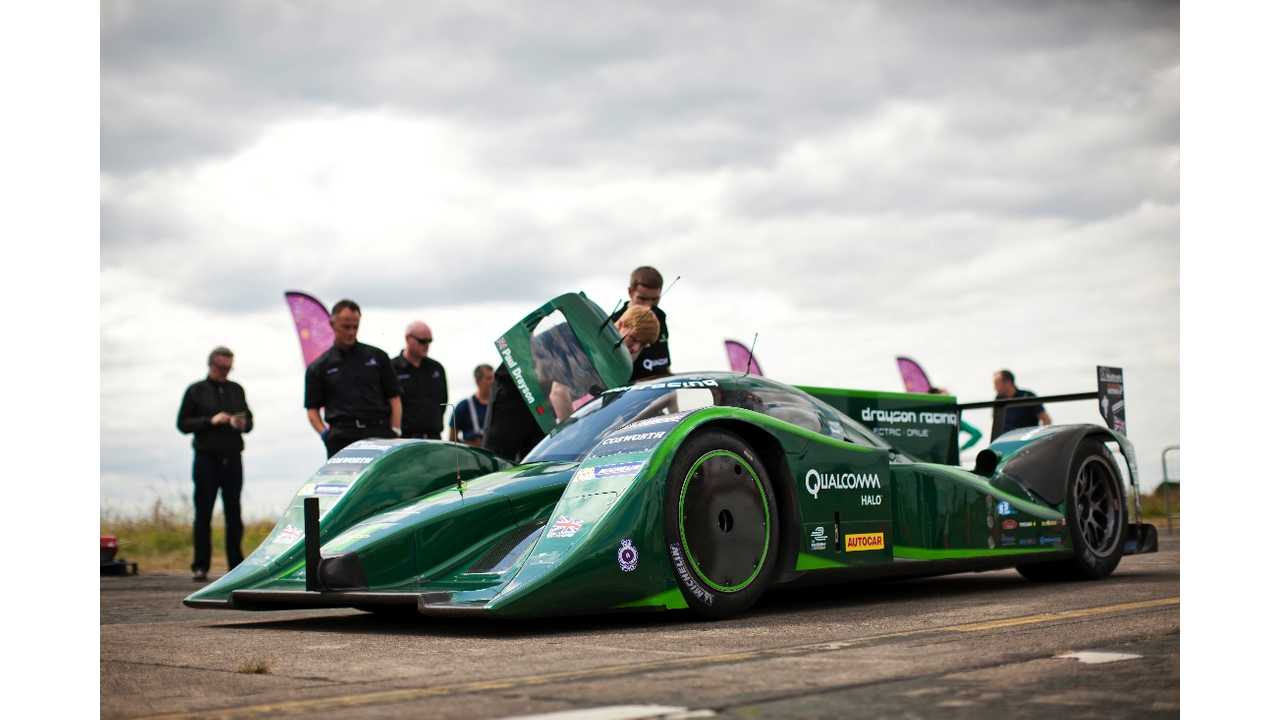 Drayson B12 69 Sets New World Electric Land Speed Record at 204.185 MPH (w/video)
