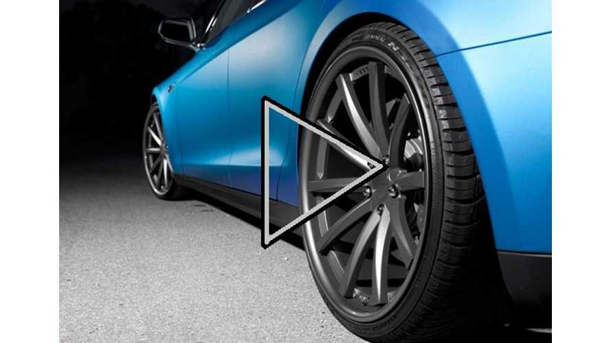 Let The Aftermarket Products For The Tesla Model S Begin:  New Wheels, New Lip, New Colors (video)
